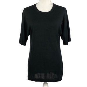 GEORGE & MARTHA | Black 100% Silk Top